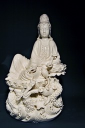 Guanyin beeld Lily 7 - 35 cm