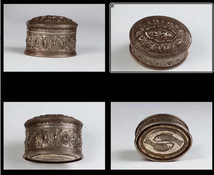 Pan box, silver, Golden Triangle